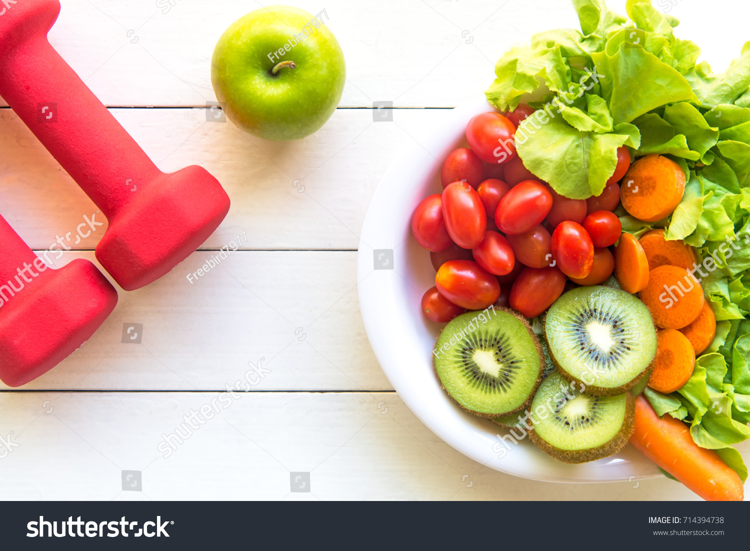 Healthy Food Lifestyle Women Diet Gym Stock Photo Edit Now 714394738