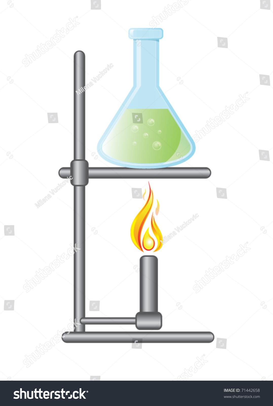 Medical Test Bottle On Bunsen Burner Stock Photo (Photo, Vector ... for bunsen burner with beaker  174mzq