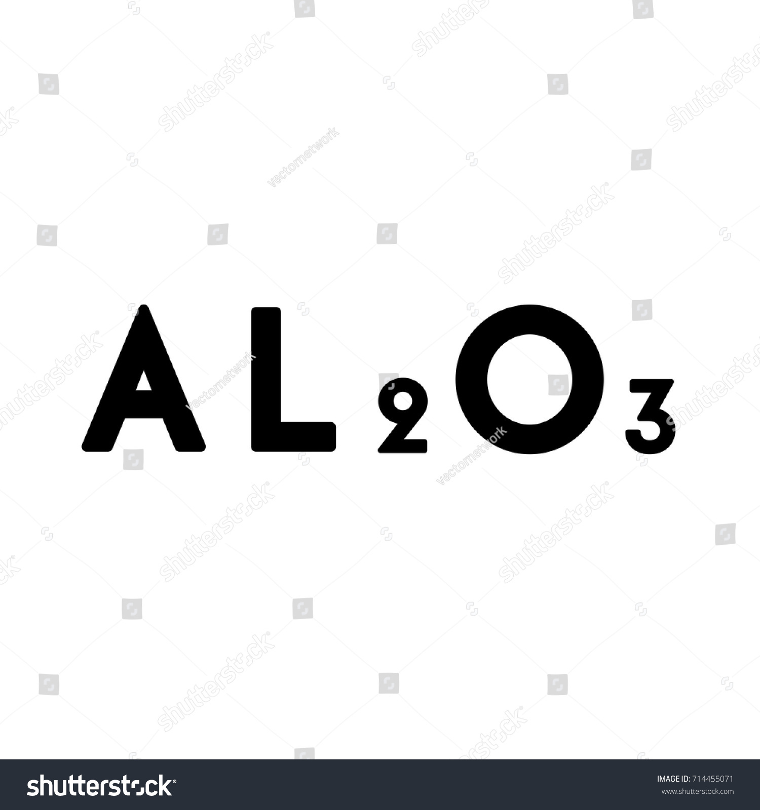 Aluminum Chemical Icon Stock Vector Royalty Free 714455071