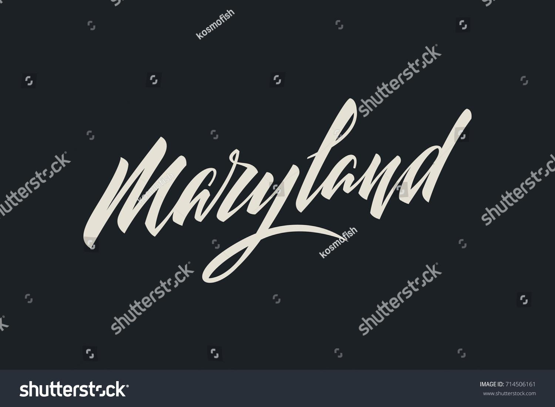 Maryland City USA State Word Logo Stock Vector (2018) 714506161 ...