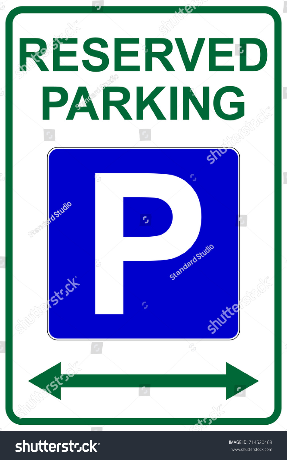 Reserved Parking Sign Left Right Arrows Stock Vector Royalty Free