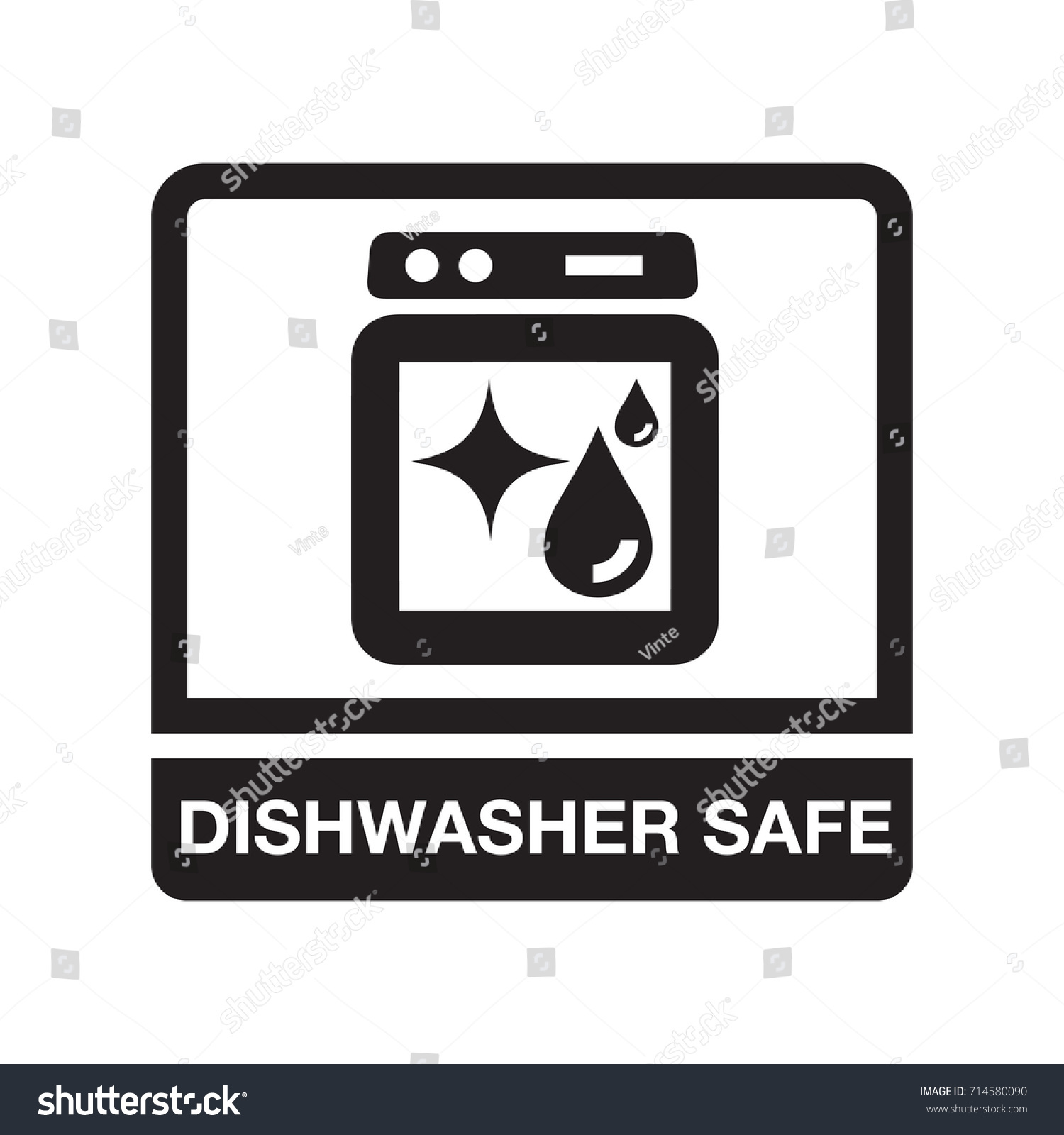 Dishwasher safe stock vector 714580090 shutterstock biocorpaavc Images