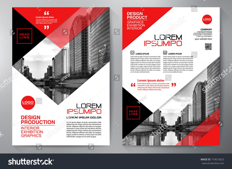 business brochure flyer design leaflets a 4 stock vector royalty