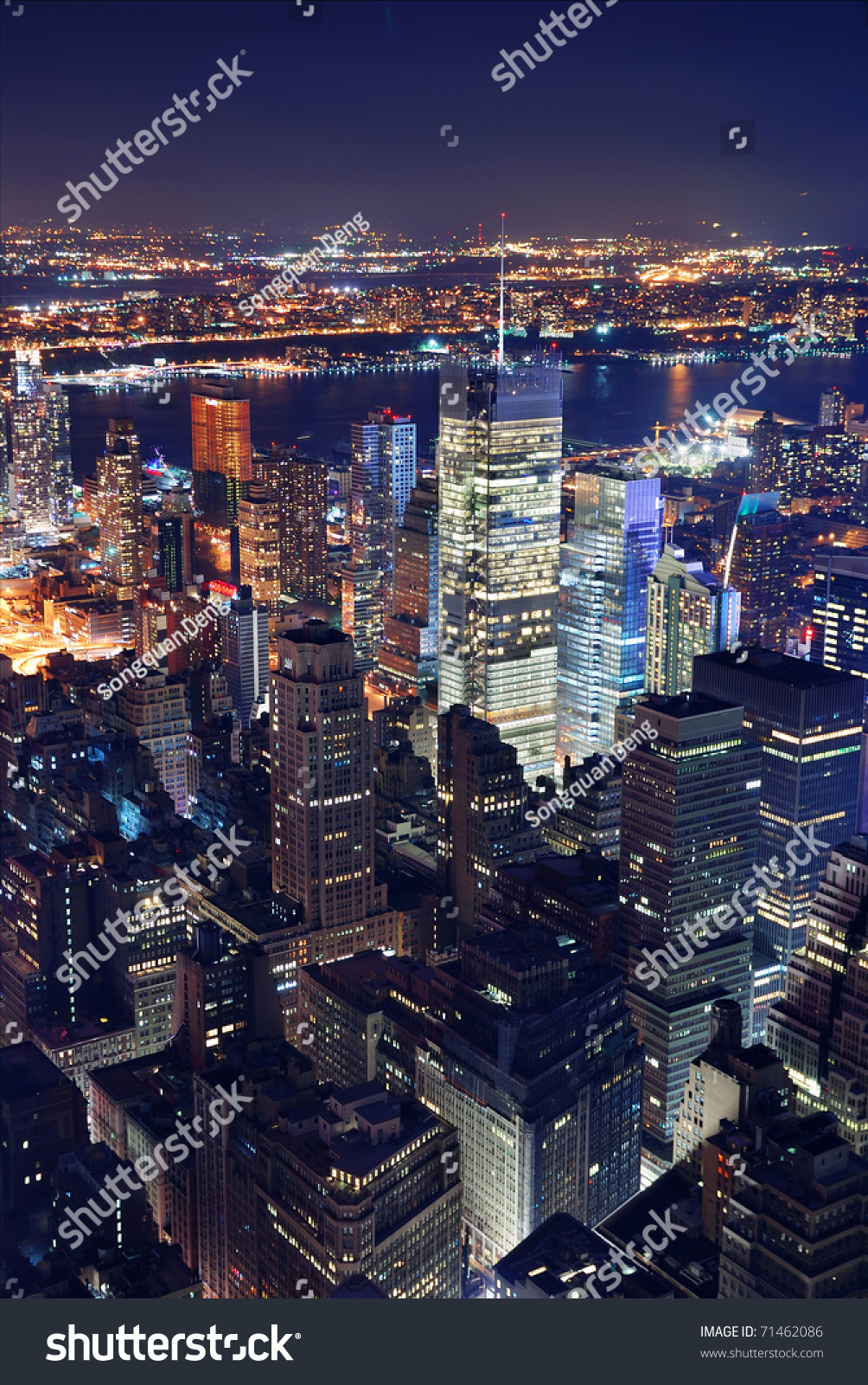how to get from times square to see manhattan skyline