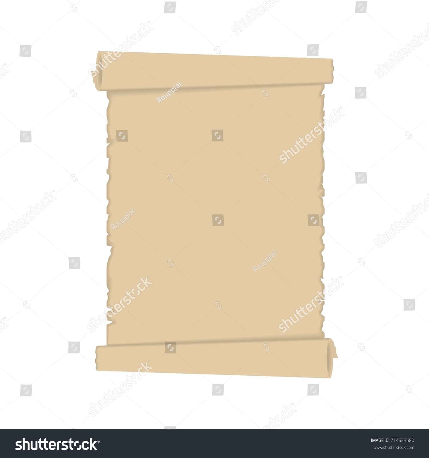 old scroll paper icon ancient parchment stock vector royalty free
