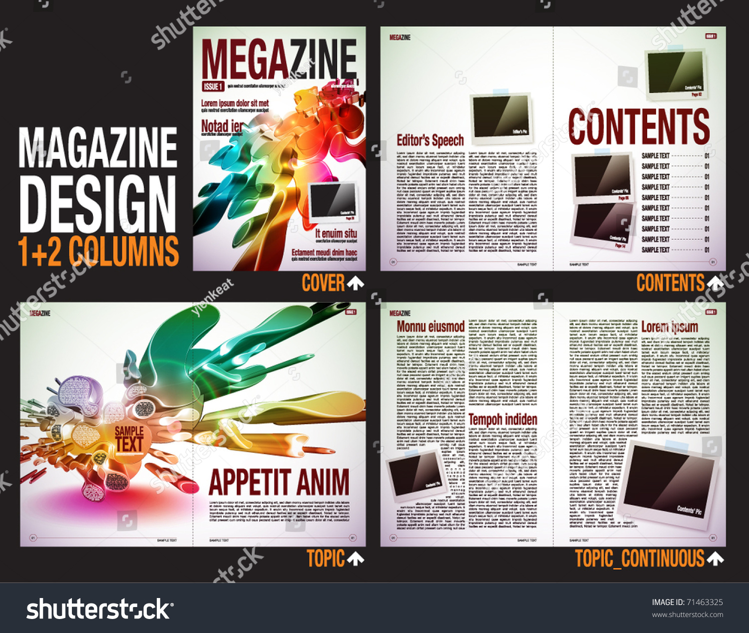Magazine Layout Design Template With Cover 6 Pages 3