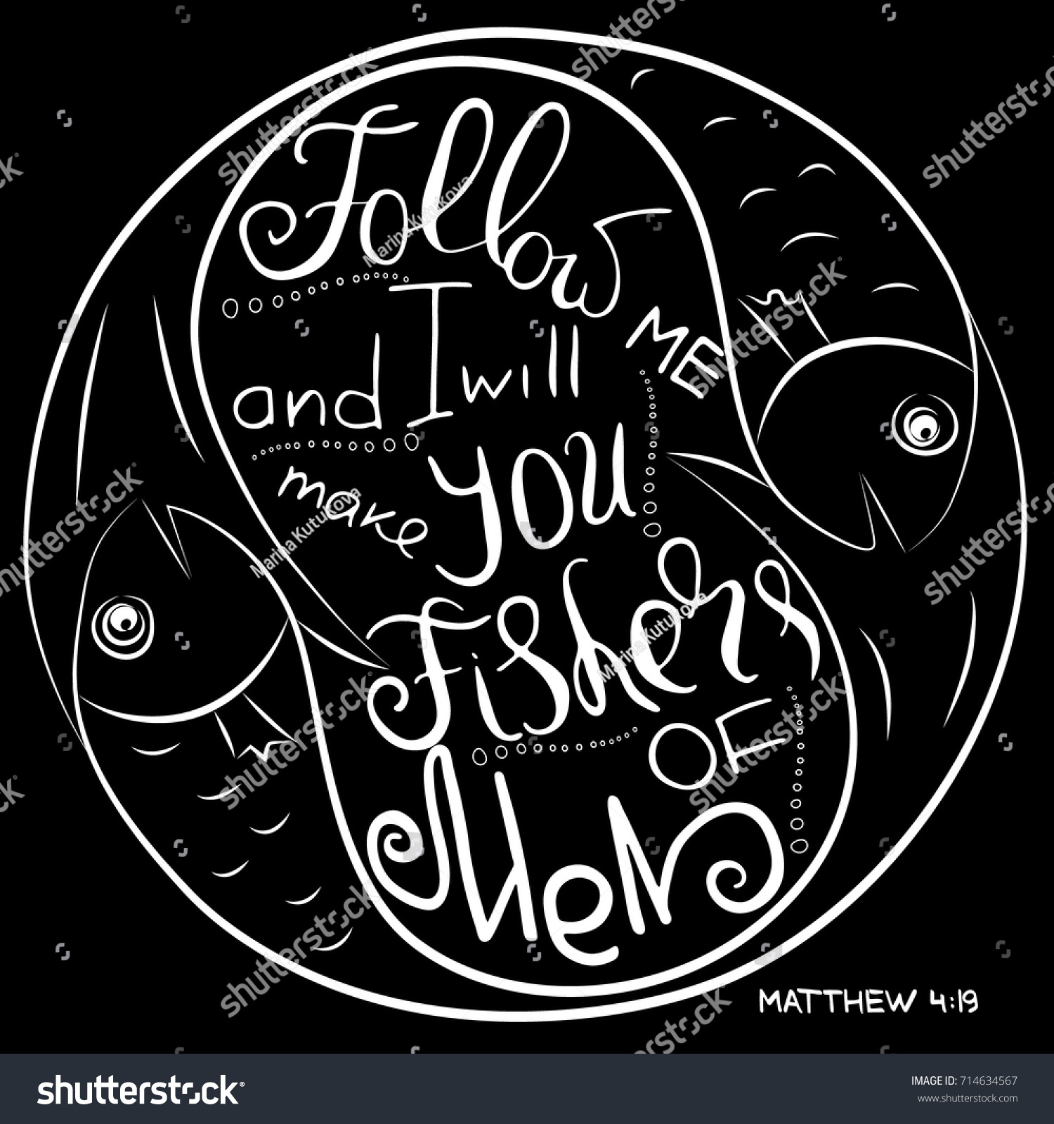 Follow me bible lettering ichthys symbol stock vector 714634567 ichthys is a symbol of fish the ancient acronym biocorpaavc