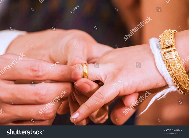 Exchange Rings Thailand According Tradition Wedding Stock Photo ...
