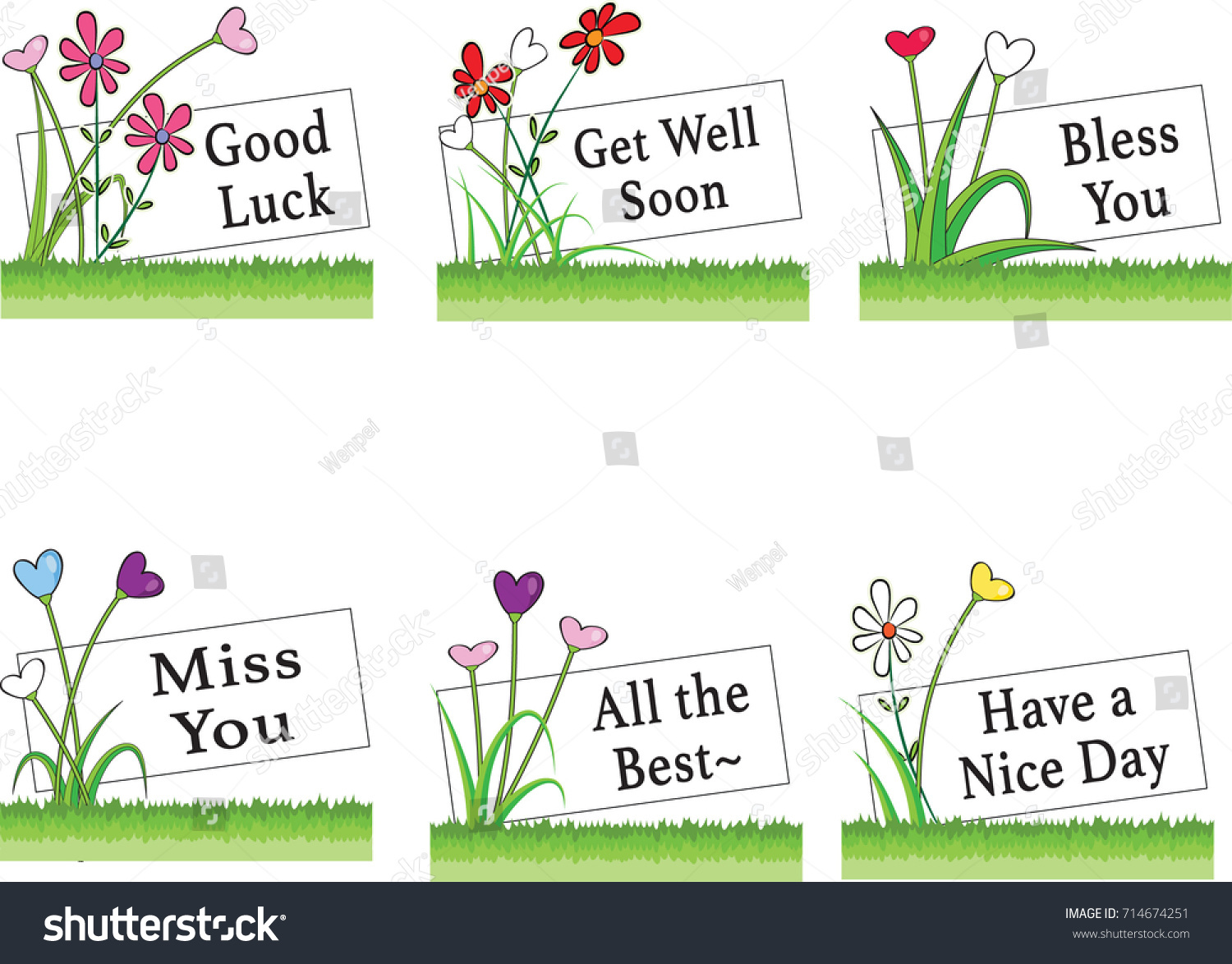 Flowers greeting card border stock vector 714674251 shutterstock flowers and greeting card border kristyandbryce Choice Image