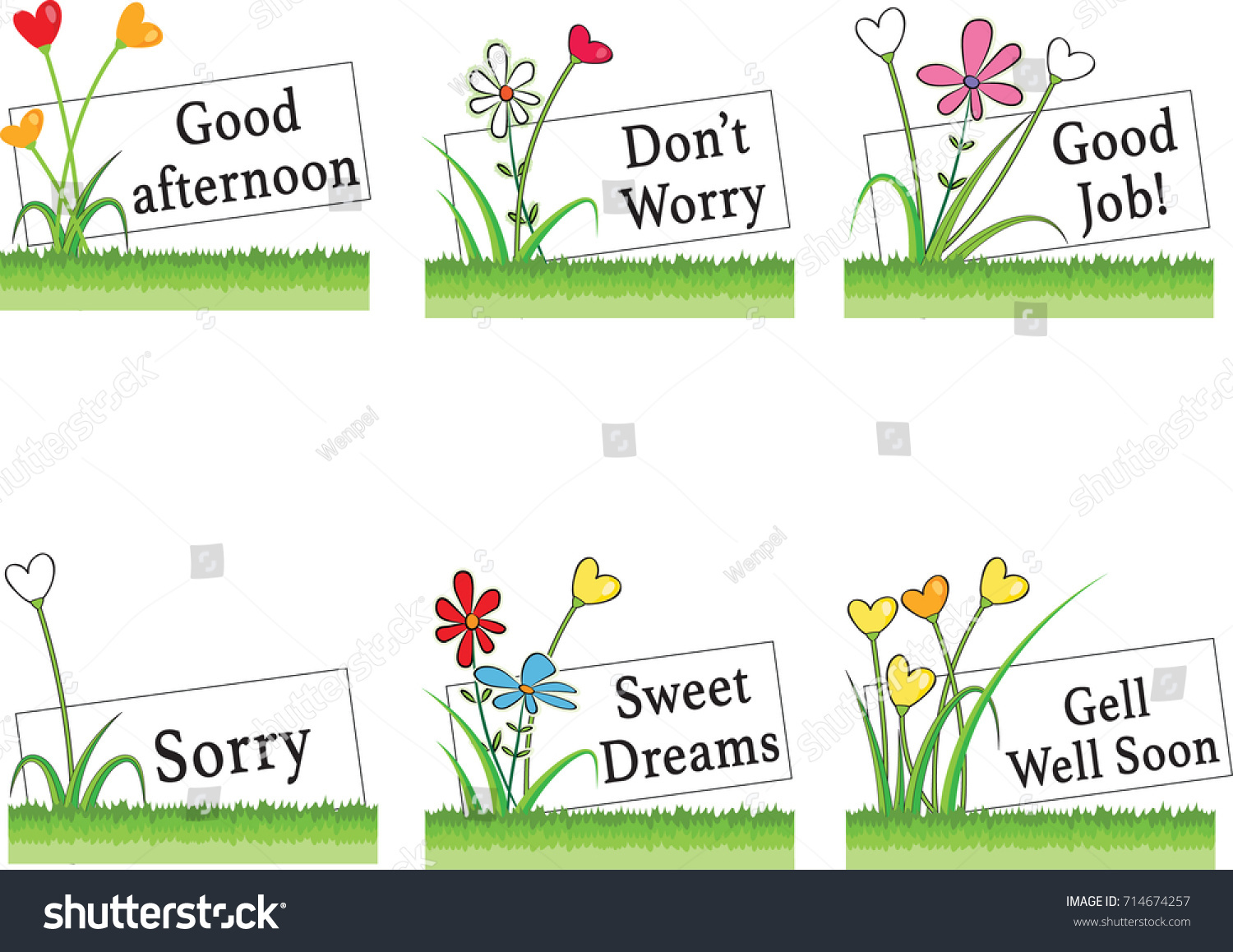 Flowers greeting card border stock vector 714674257 shutterstock flowers and greeting card border kristyandbryce Choice Image