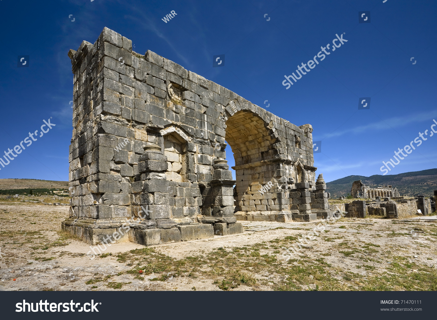 Morocco volubilis archaeological site is on unesco for World heritage site list
