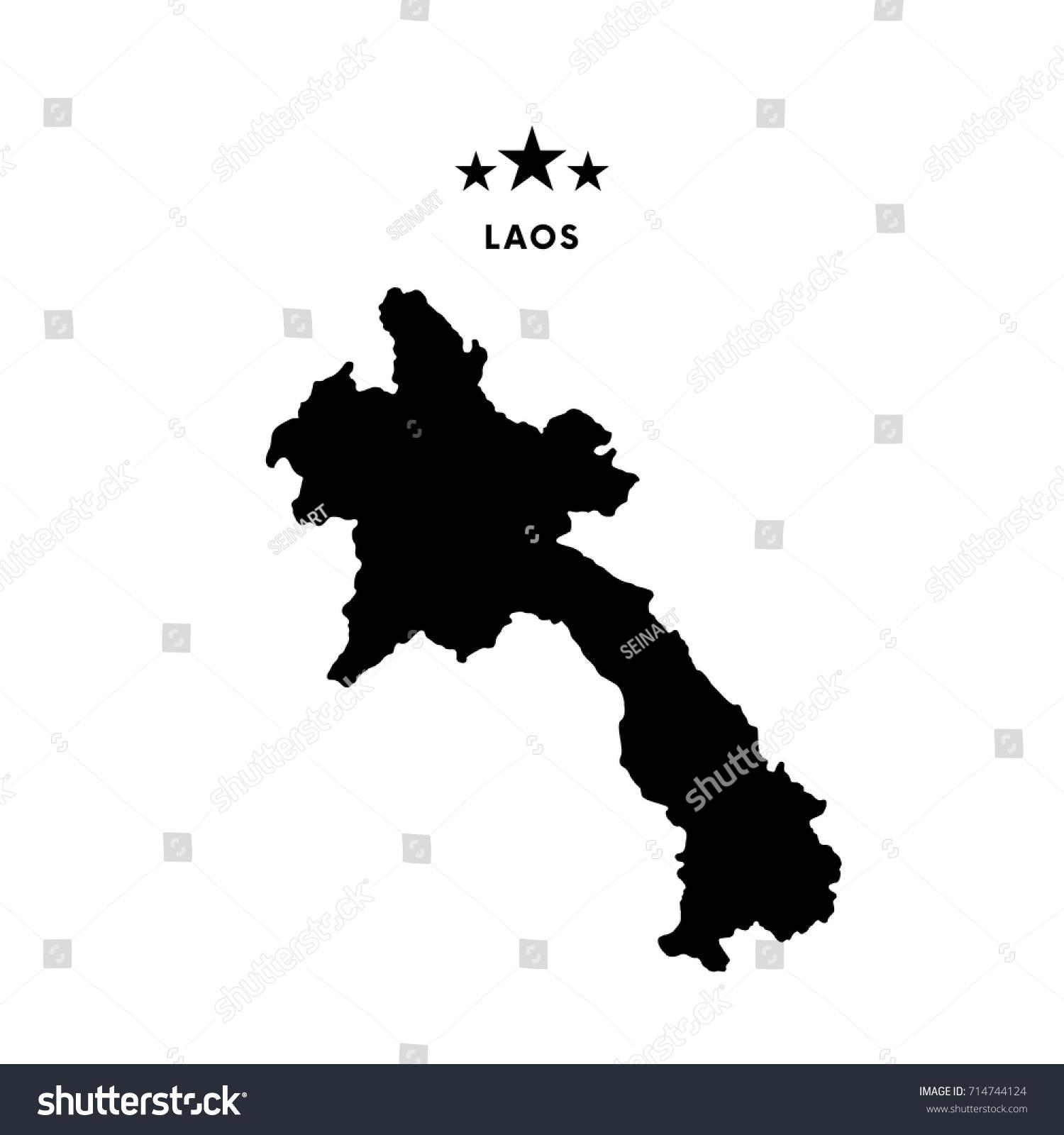 Laos Map Vector Illustration Stock Vector Shutterstock - Laos map vector