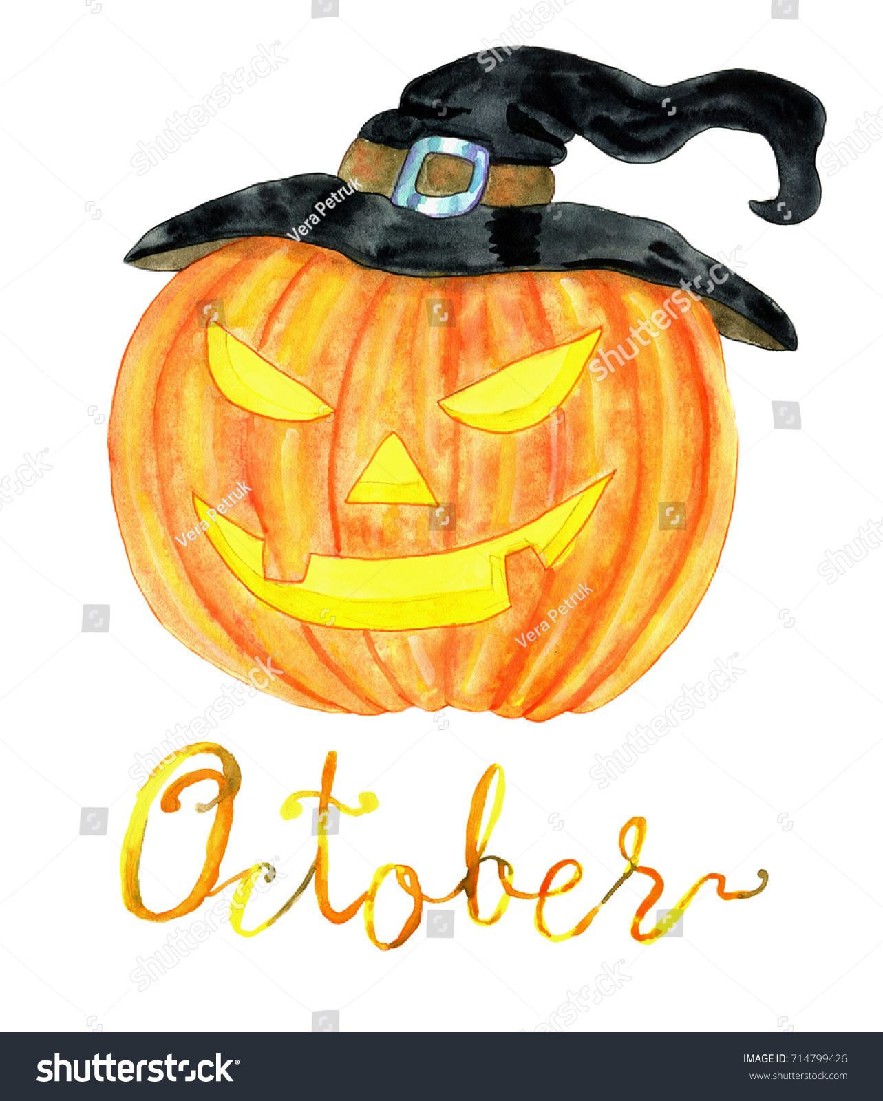Calendar Head Design : October month pumpkin head halloween celebration stock