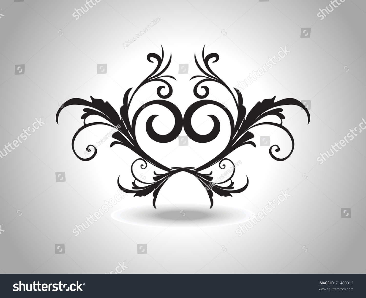 abstract grey background isolated black creative stock vector 71480002 shutterstock. Black Bedroom Furniture Sets. Home Design Ideas