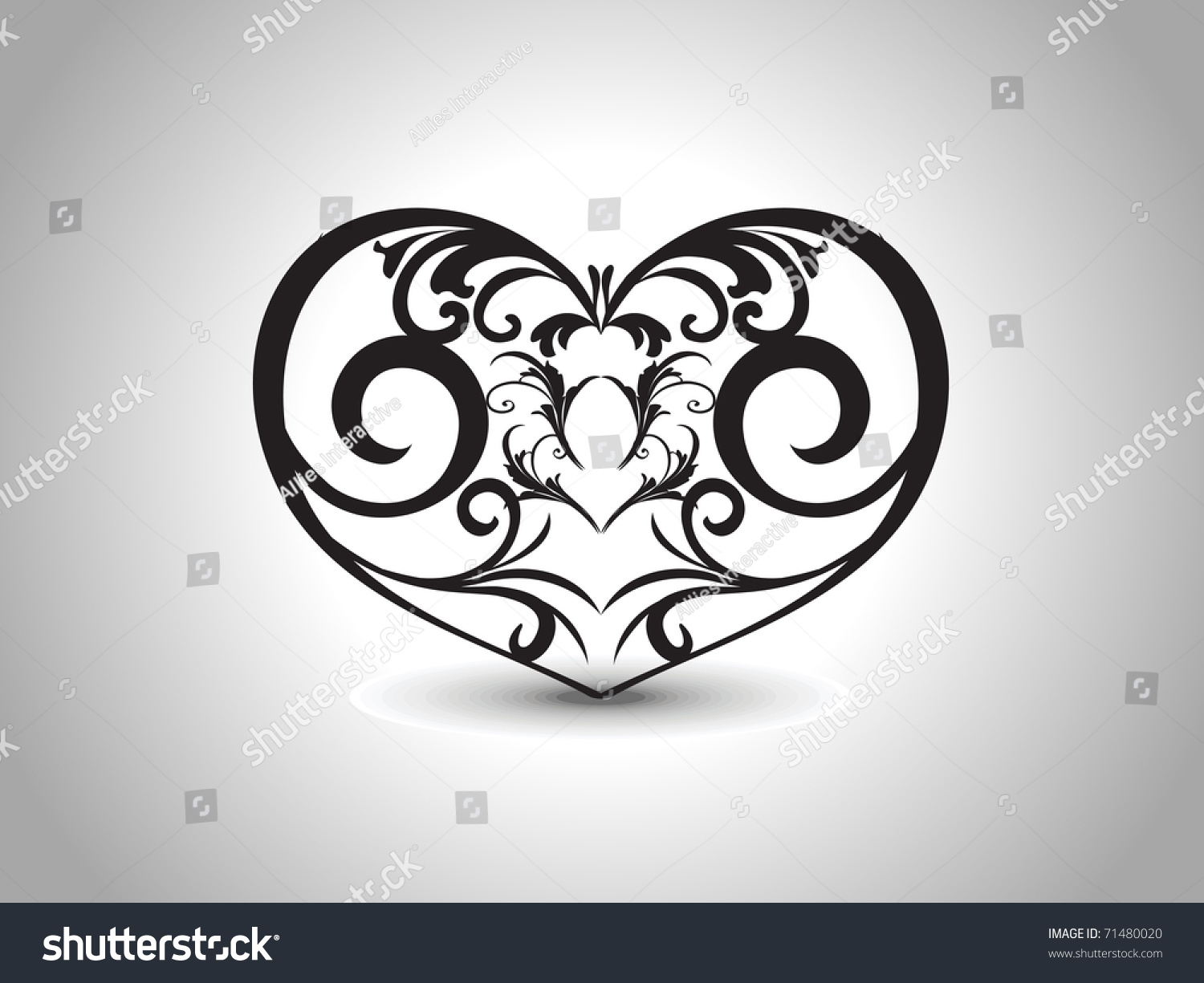 abstract grey background with isolated black creative design heart tattoo stock vector. Black Bedroom Furniture Sets. Home Design Ideas