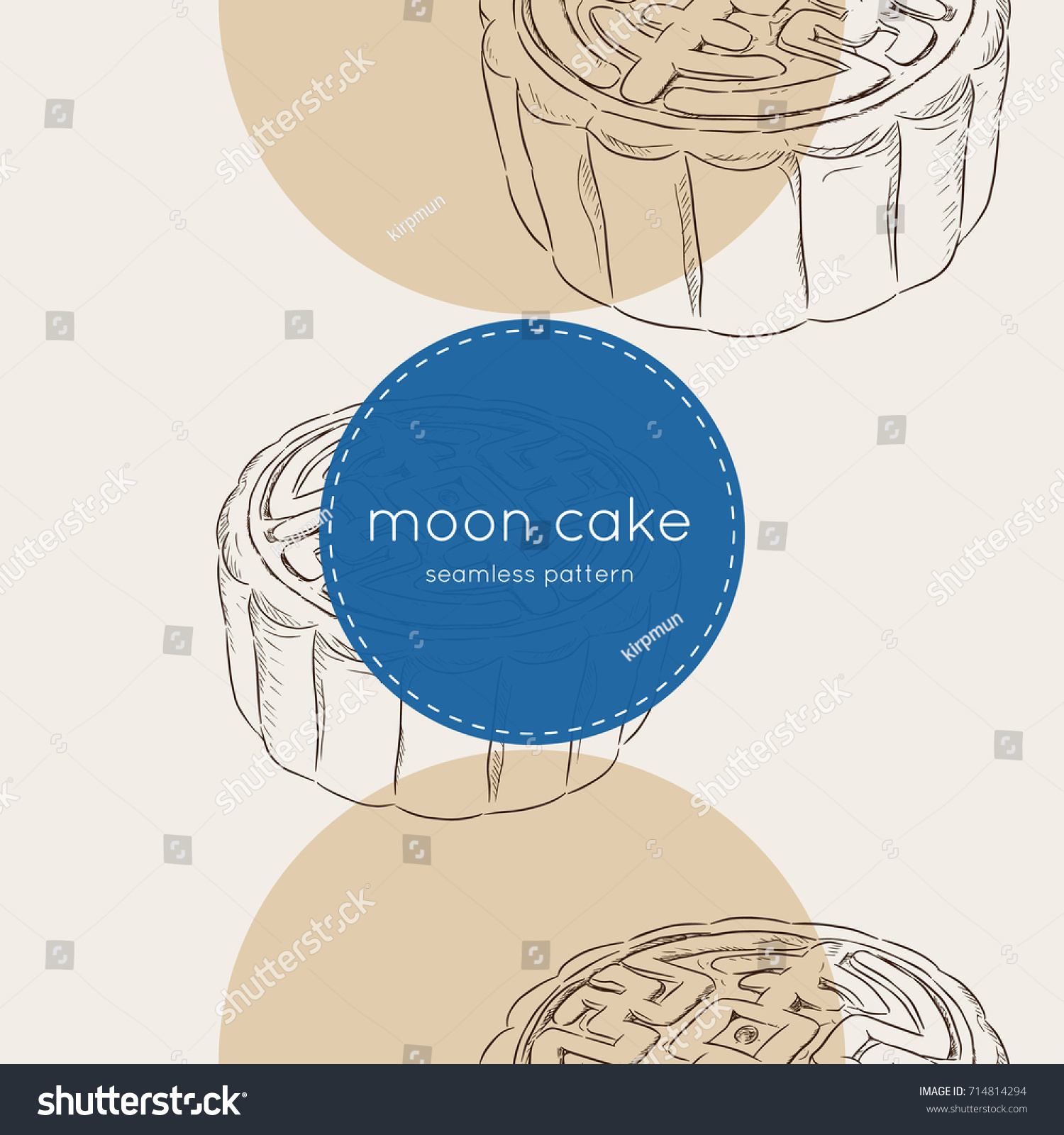 Chinese cuisine moon cake chinese round stock vector 714814294 chinese cuisine moon cake or chinese round pastry filled with red bean or lotus seed pooptronica Images