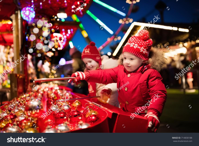 Kids Traditional Christmas Fair Children Xmas Stock Photo (Edit Now ...