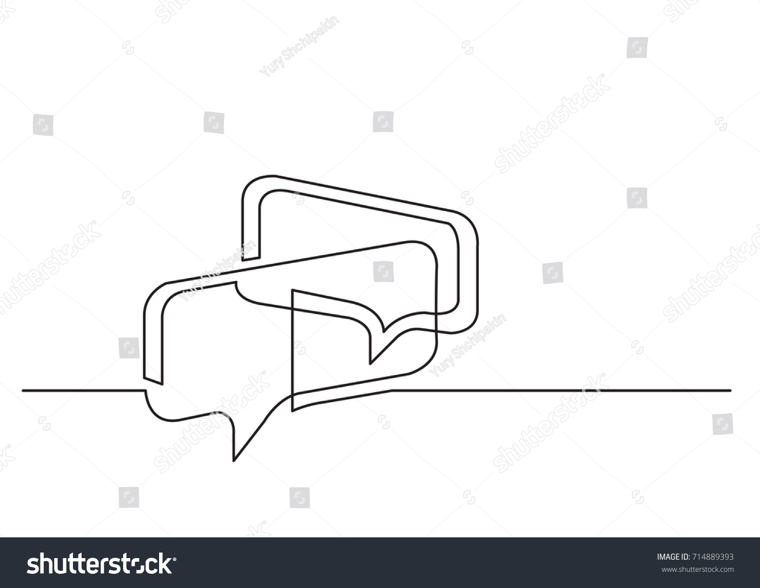 Single Line Text Art : One line drawing isolated vector object stock hd royalty