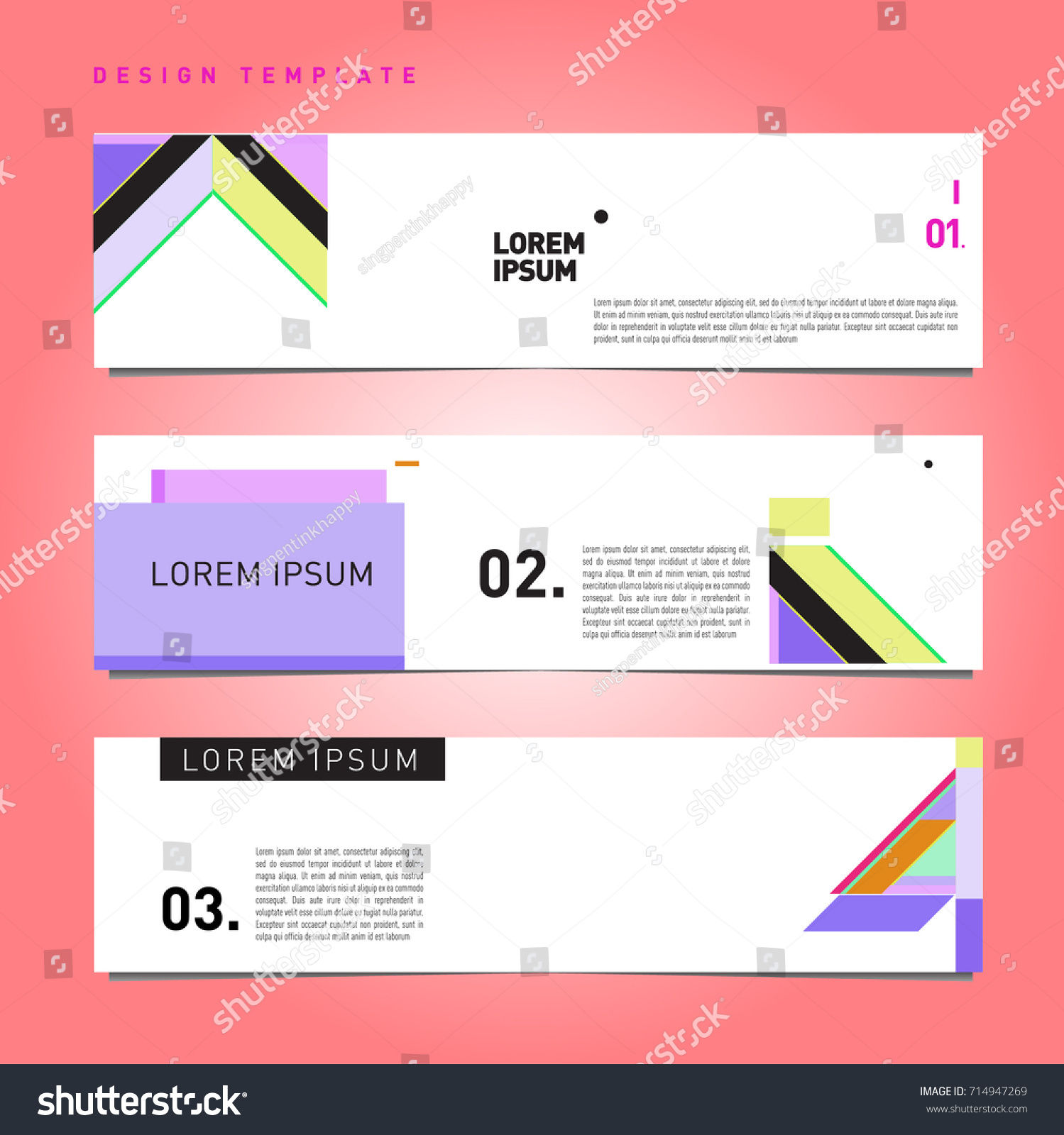 Design banner template - Vector Abstract Design Banner Web Template Retro And Pop Art Colorful Banner Layout