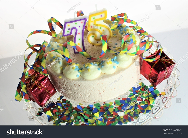 Image Birthday Cake 75 Birthday Stock Photo 100 Legal Protection