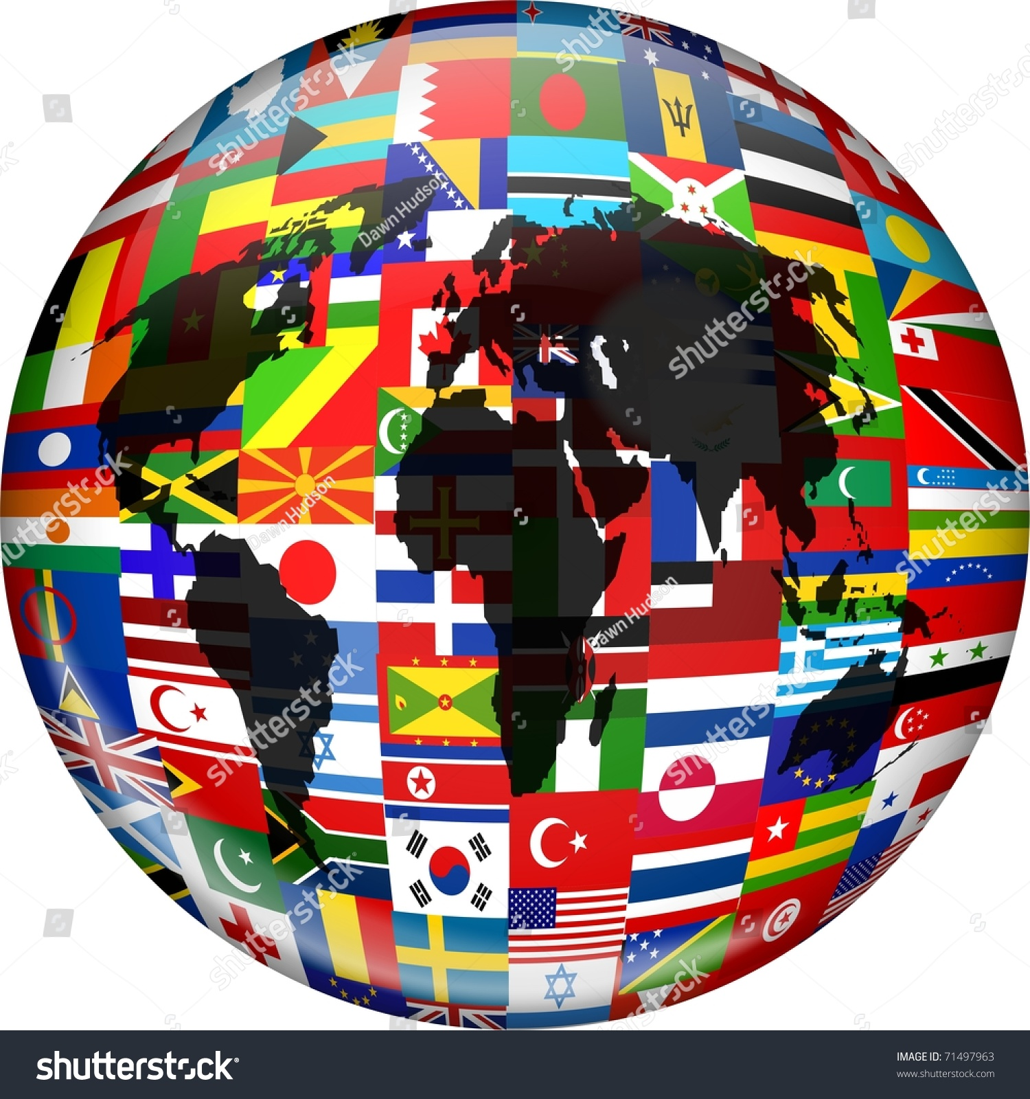 Colourful globe illustration made flags all stock illustration colourful globe illustration made up of flags from all over the world and incorporating a world gumiabroncs Images