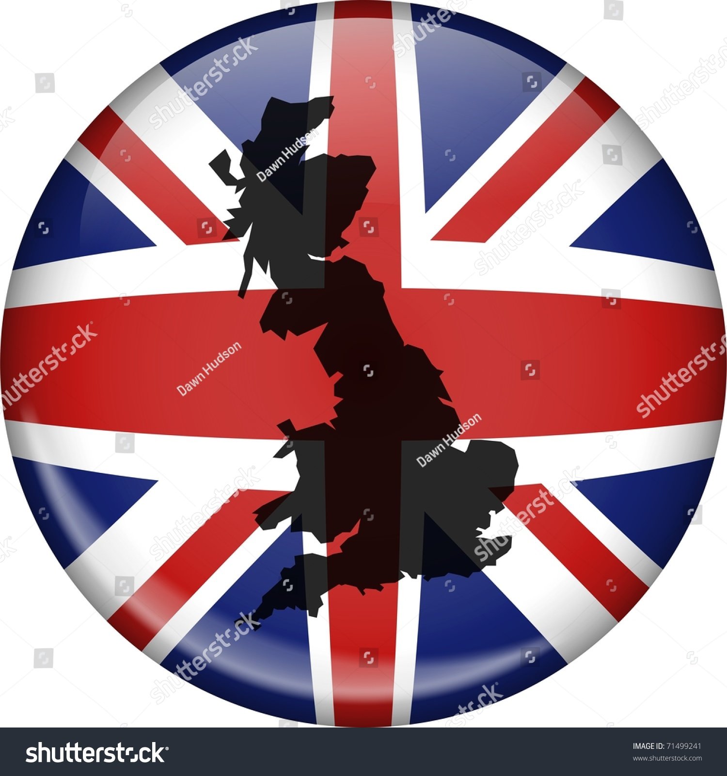 illustration union jack flag great britain stock illustration