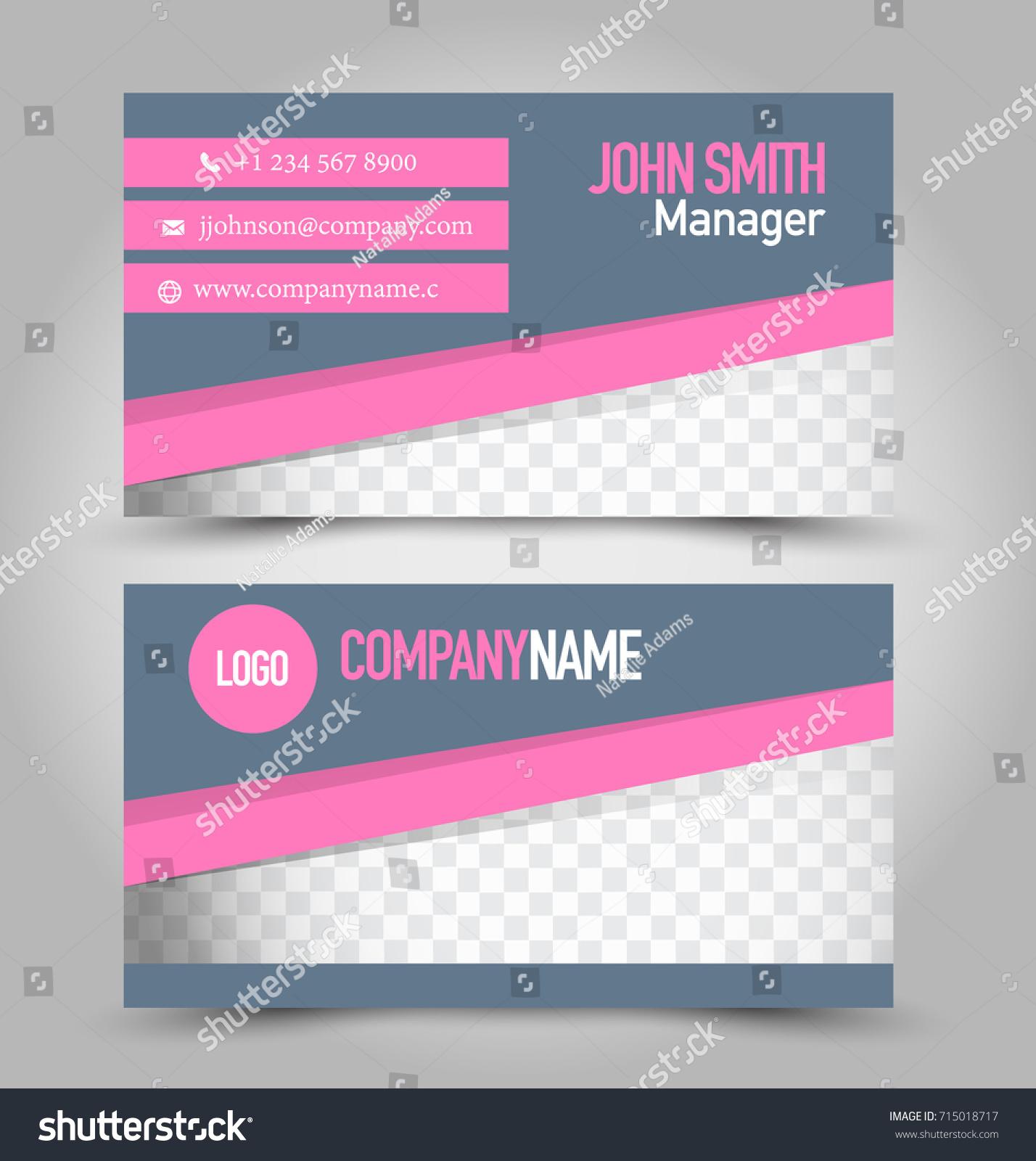 Business Card Template Design Corporate Identity Stock Vector