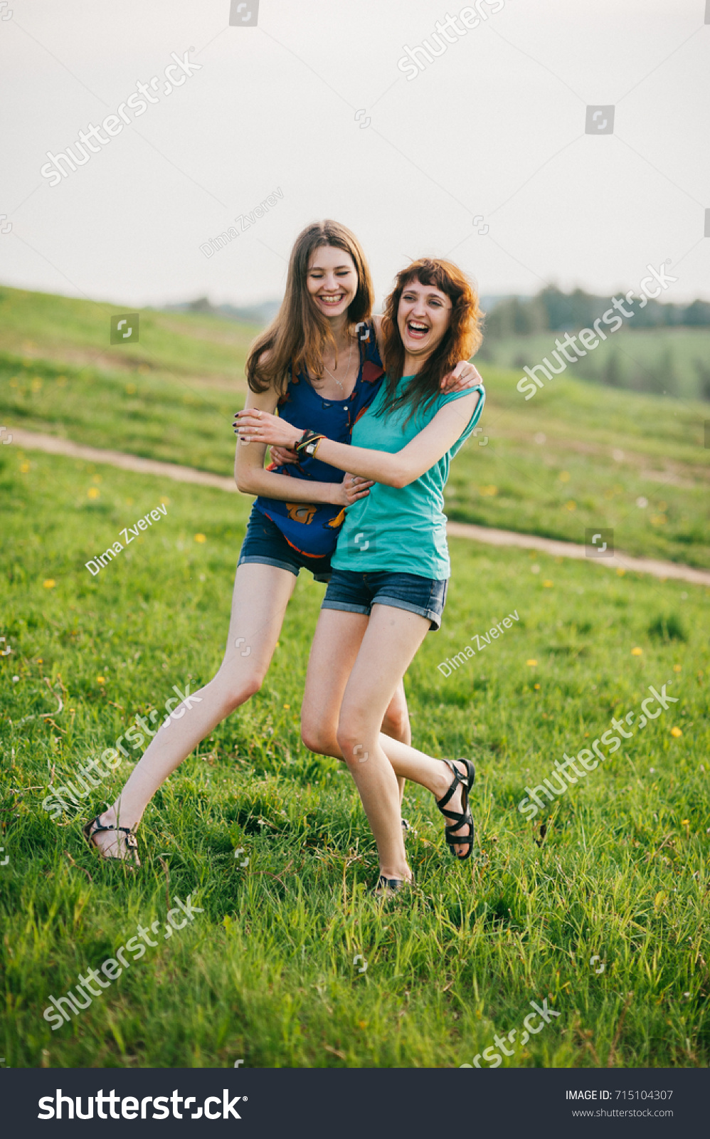 Young teen girls nature simply