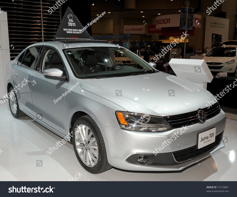 toronto february  volkswagen jetta tdi ajac  family car showcased    canadian