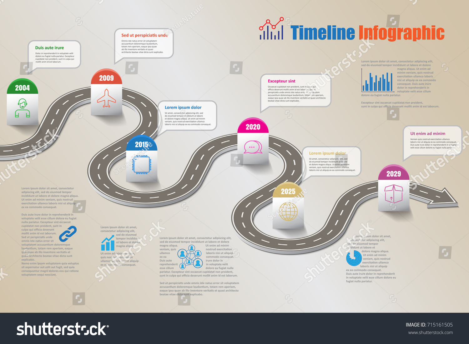 Infographic template roadmap