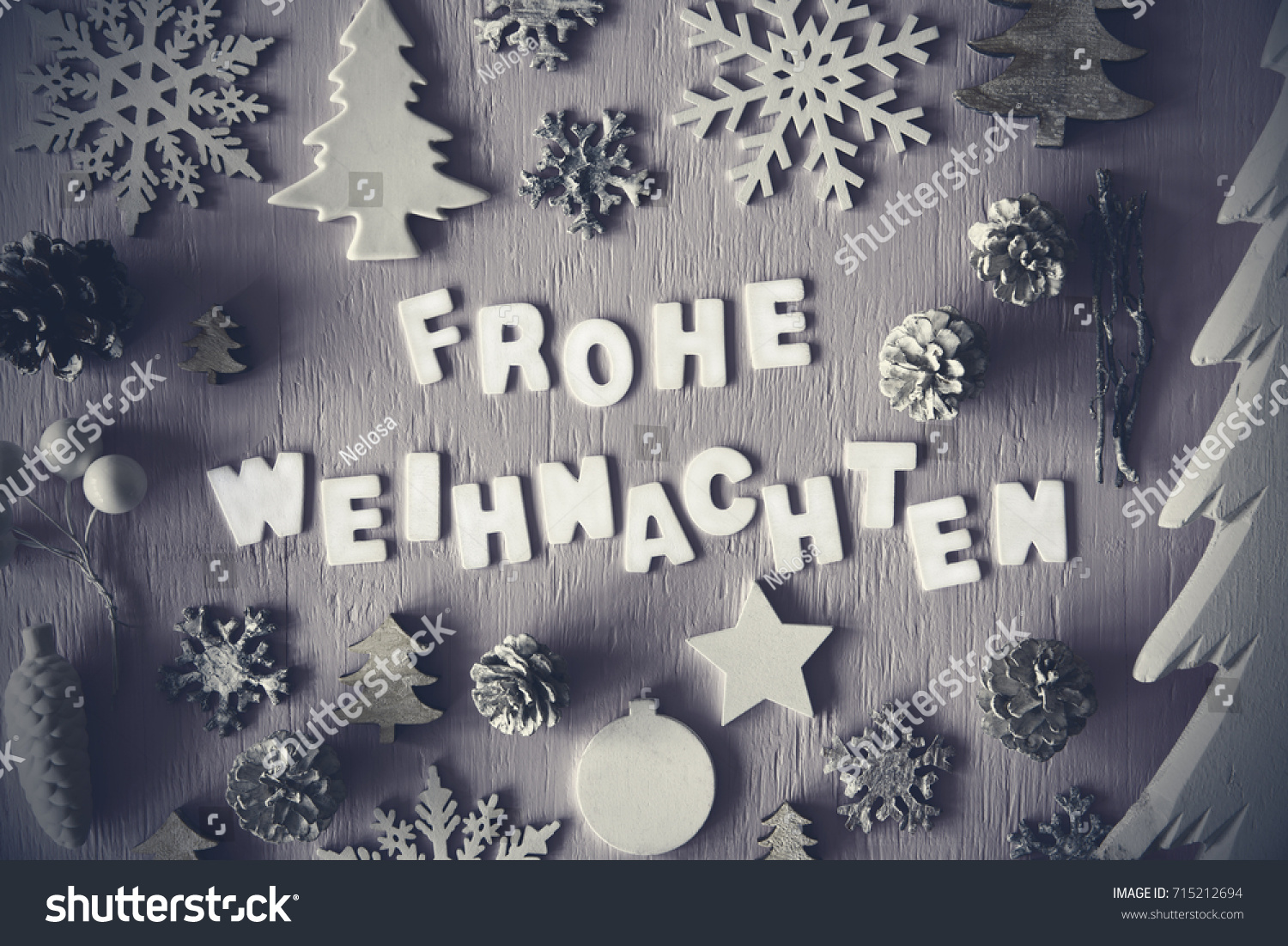 Letters Building German Word Frohe Weihnachten Stock Photo Edit Now