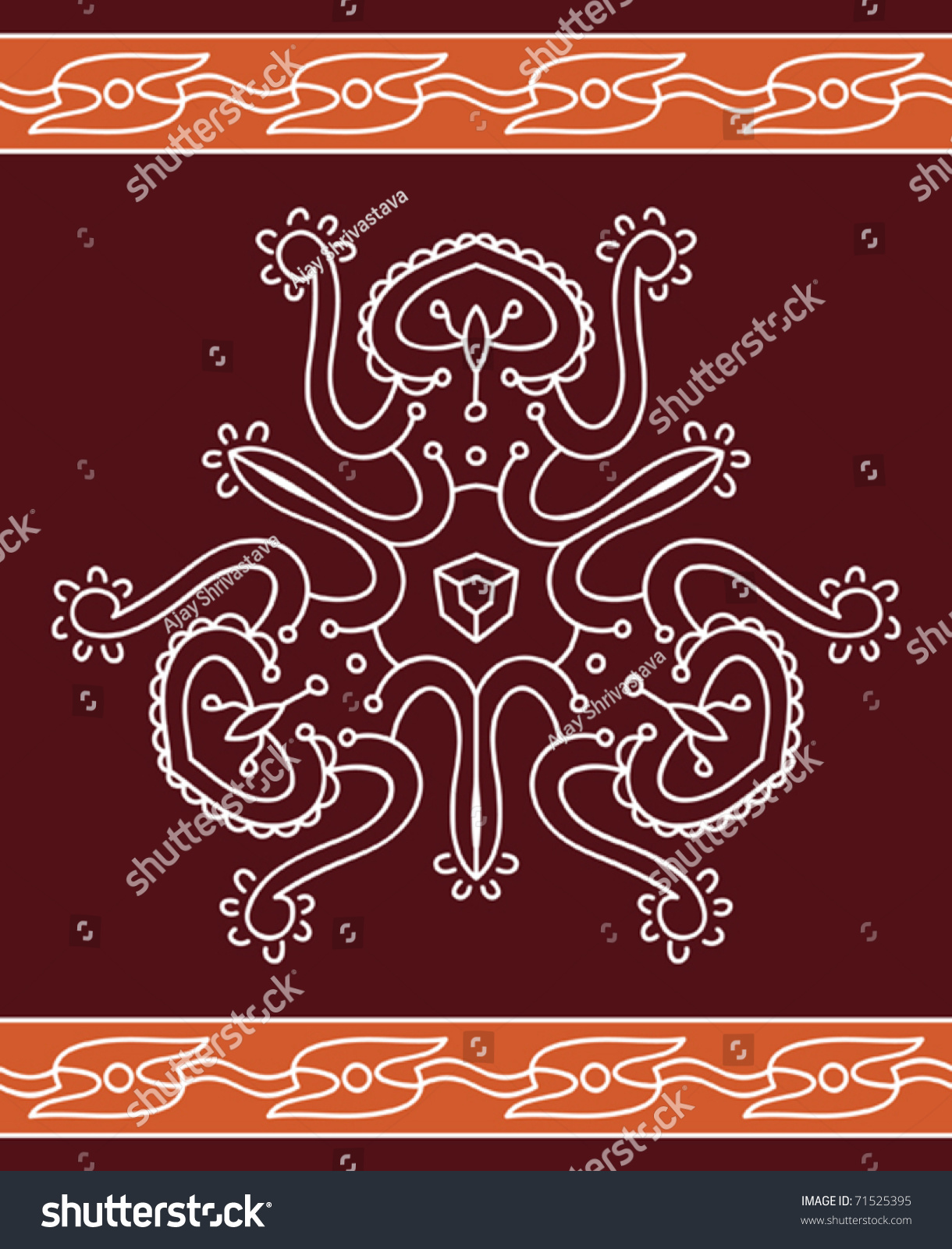 folk tribal designs motif wall painting stock vector 71525395 shutterstock. Black Bedroom Furniture Sets. Home Design Ideas