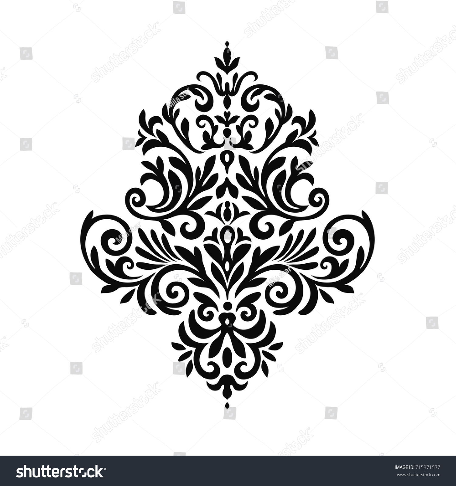 Victorian Style Ornate Element Design Ornamental Stock Illustration ...
