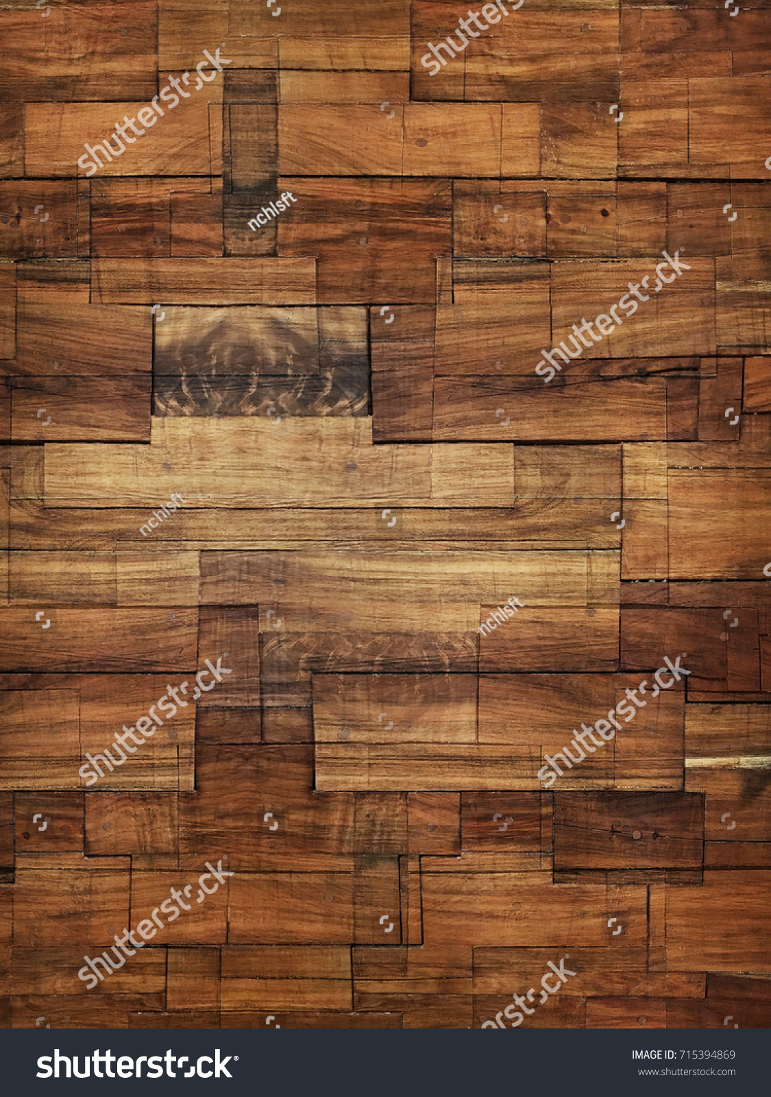 Wood Block Wall Wood Block Wall Texture Stock Photo 715394869  Shutterstock