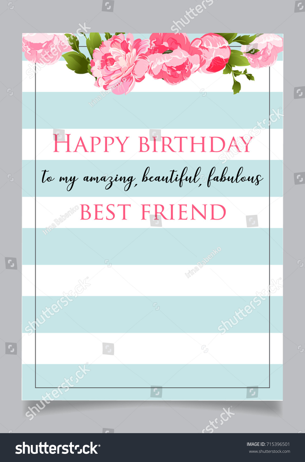Birthday Greeting Card Text Happy Birthday Stock Vector 715396501
