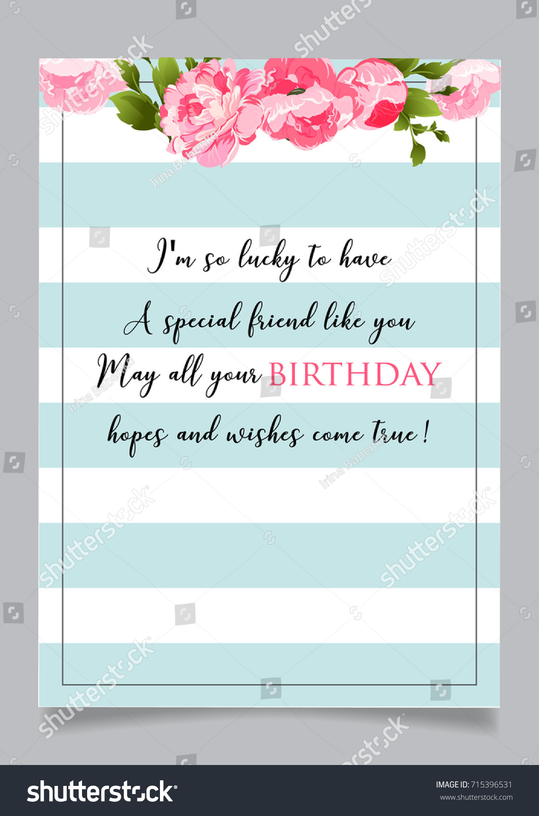 Birthday Greeting Card Text Happy Have Stock Vector Royalty Free
