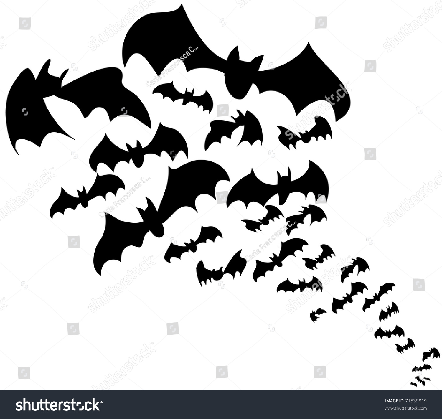 flock of bats halloween decoration