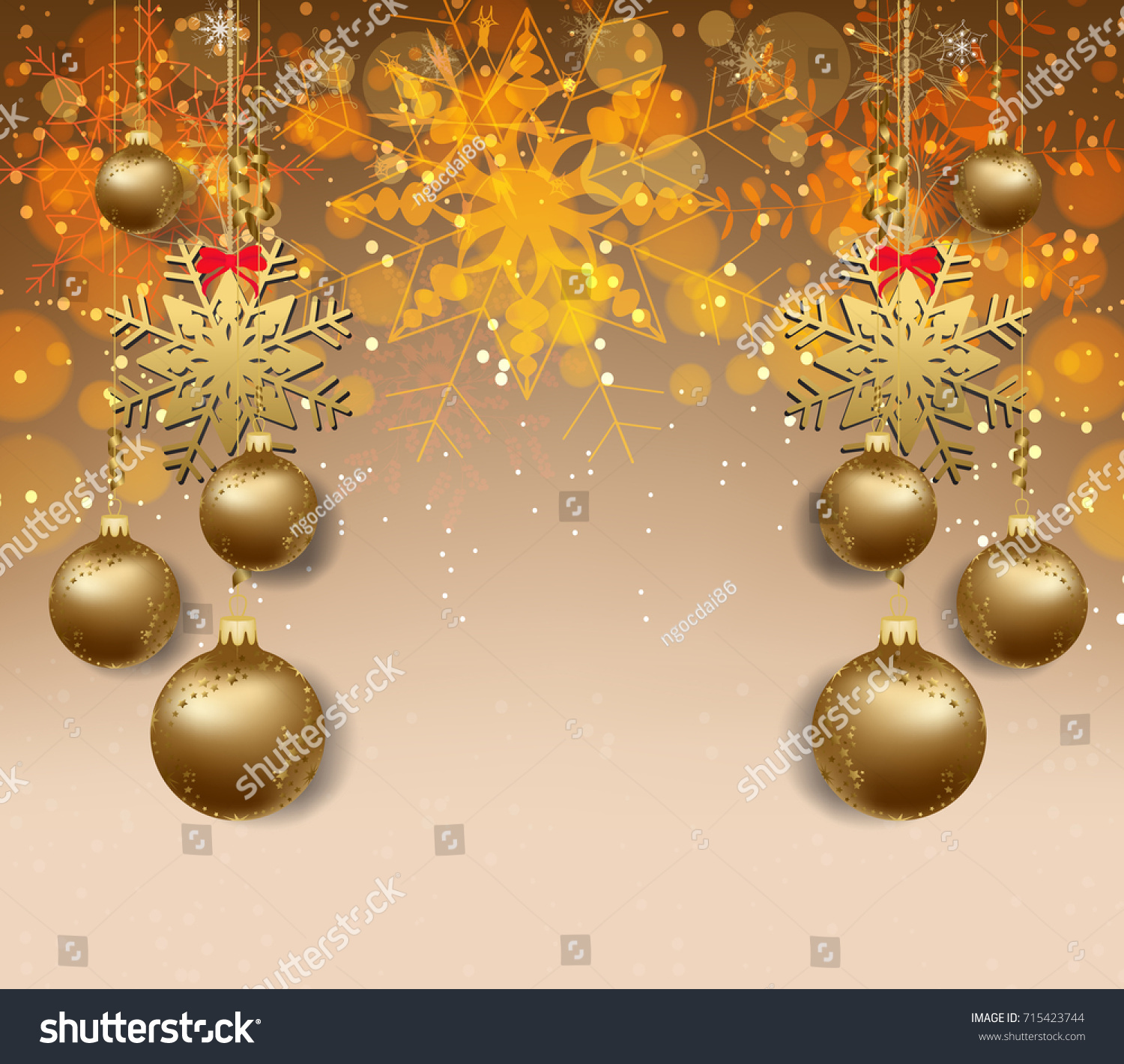 merry christmas and happy new year 2018 wallpaper gold balls