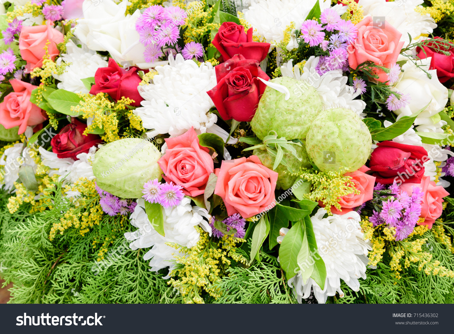 Beautiful Bunch Colorful Flowers Flora Background Stock Photo Edit