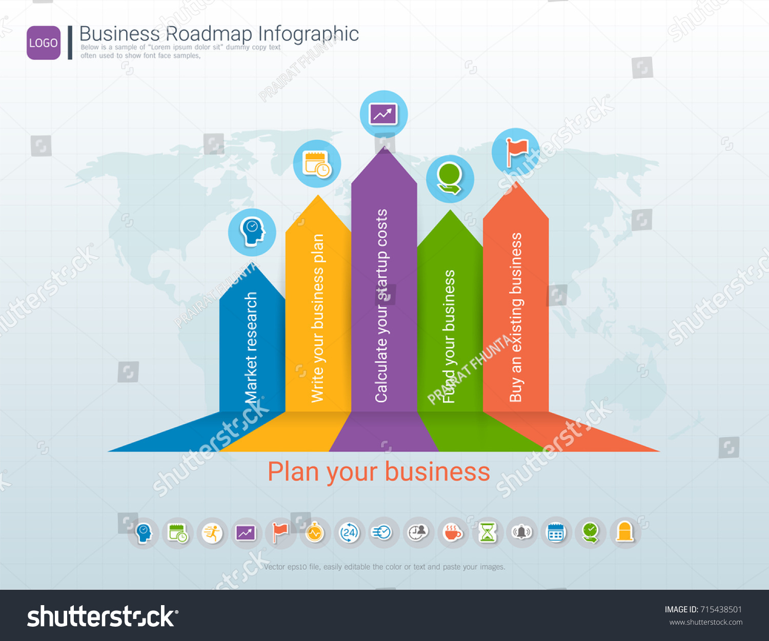 Roadmap Timeline Infographic Design Template Key Stock Vector - Roadmap timeline template