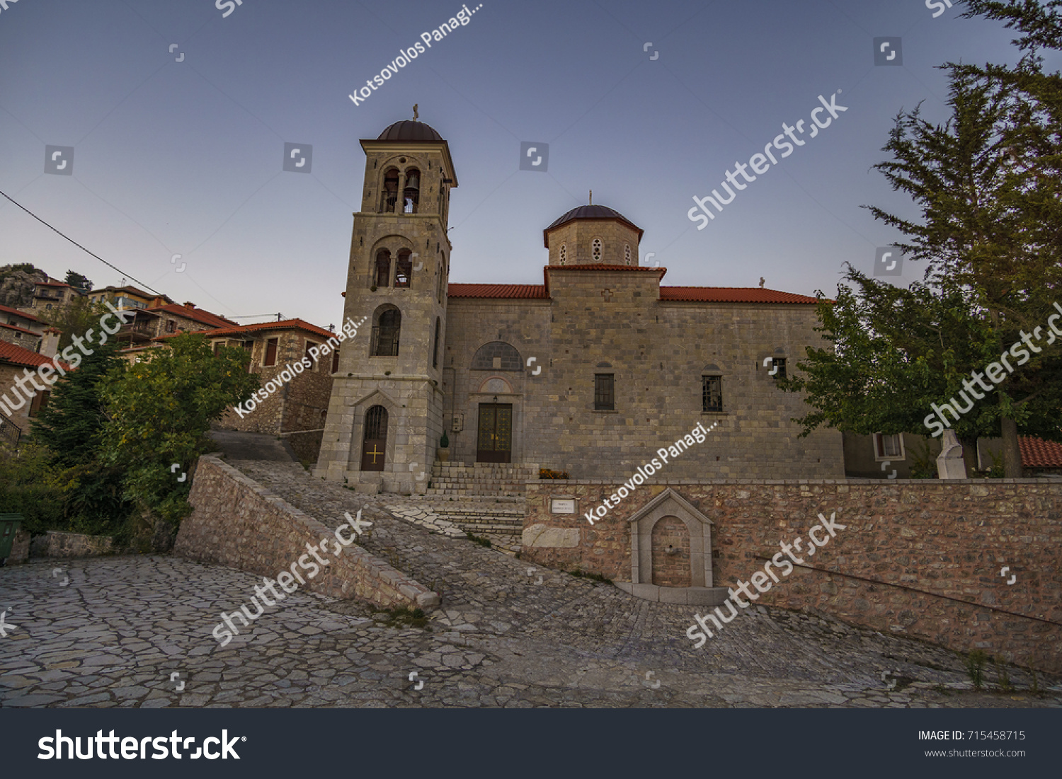 What was the typical medieval monastery Famous Orthodox churches