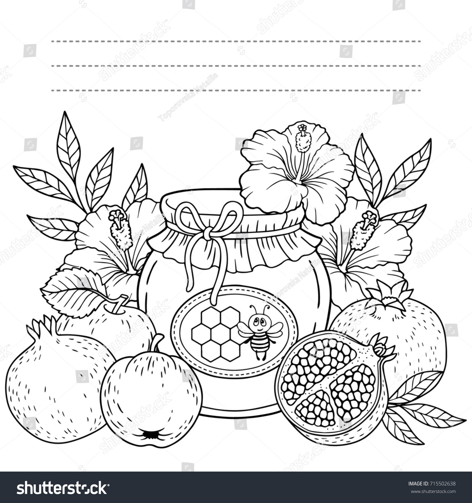 Autumn Coloring Page Adults Black White Stock Illustration 715502638 ...