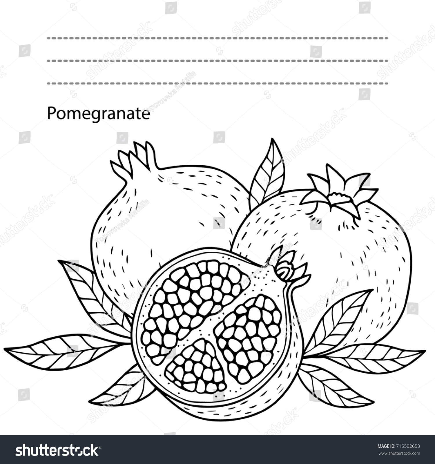 Autumn Coloring Page Adults Black White Stock Illustration 715502653 ...