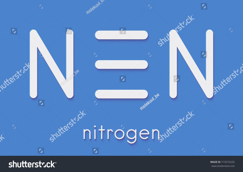 Elemental Nitrogen N 2 Molecule Nitrogen Gas Stock Illustration