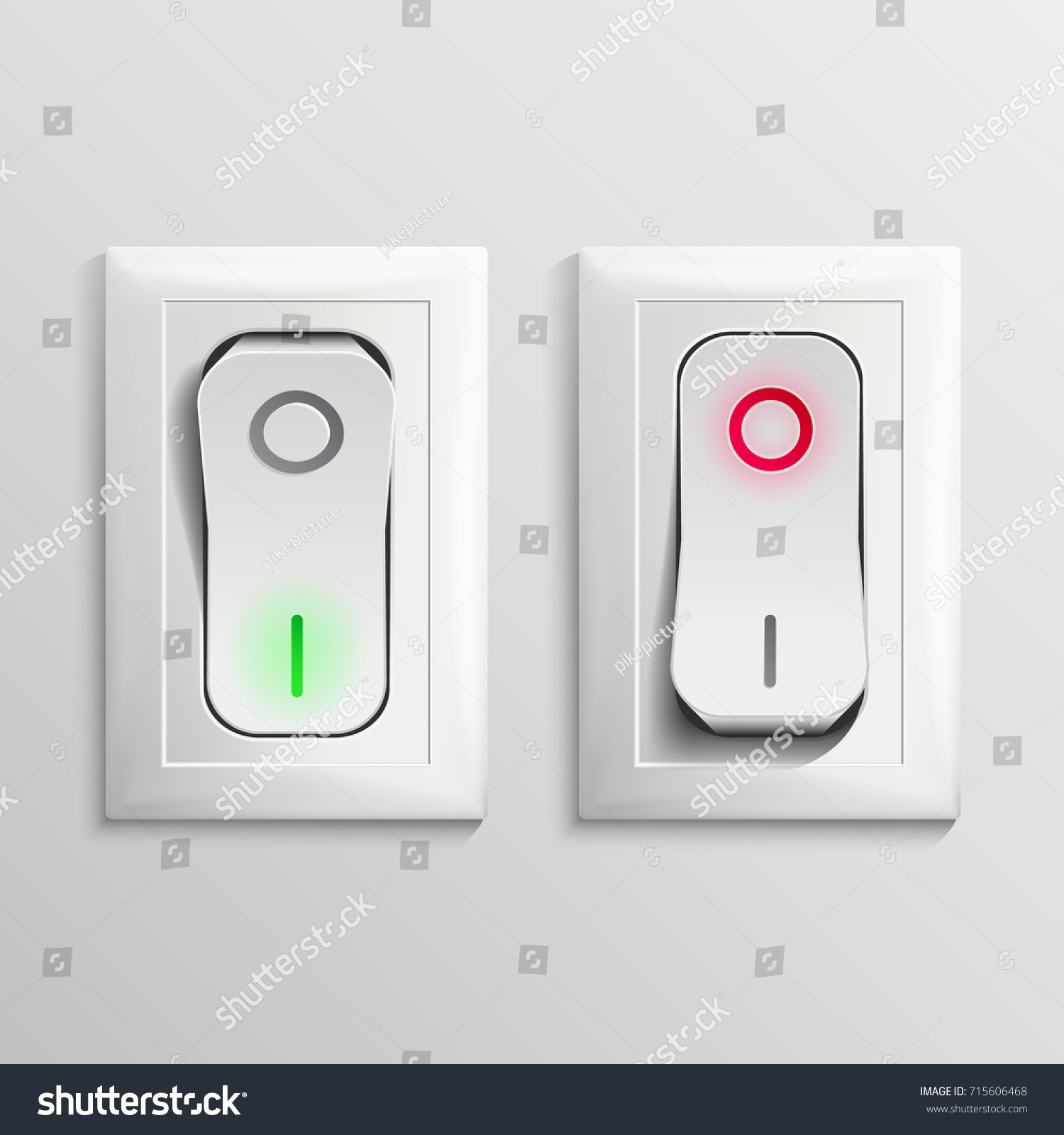 Toggle Switch Vector Plastic Switches On Stock Vector (Royalty Free ...