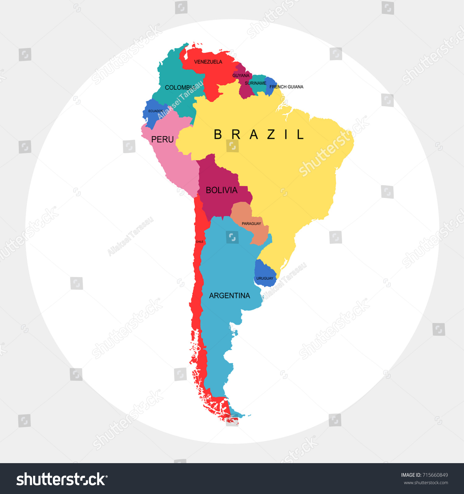 Map south america vectores en stock 715660849 shutterstock gumiabroncs Image collections