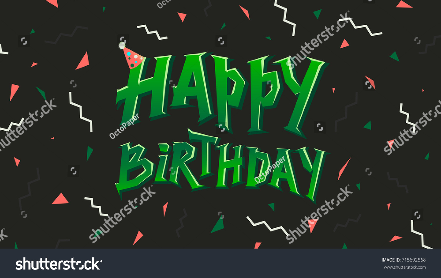 Happy birthday sign in elegant black script type with ornament - Happy Birthday Card With Abstract Pattern Vector Illustration Good For Congratulation Card Banner