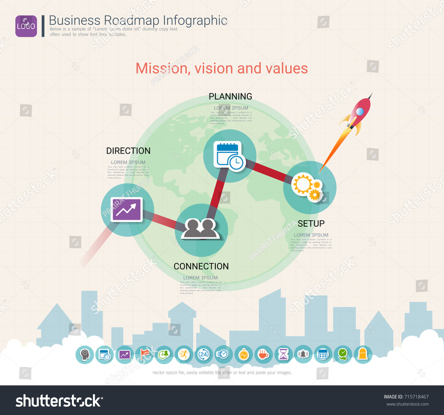 Roadmap Timeline Infographic Design Template Key Stock Vector - Timeline roadmap template