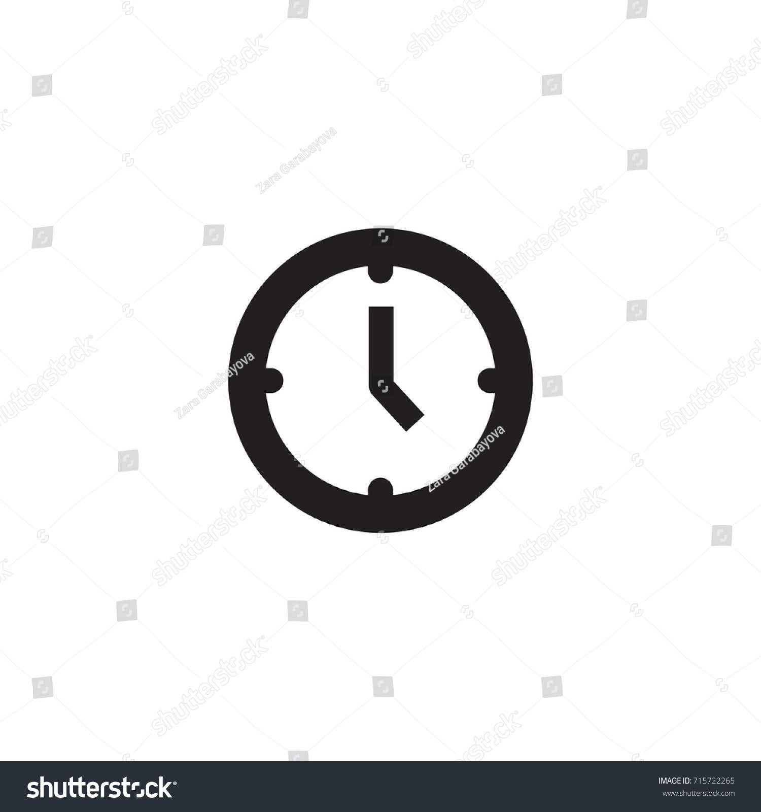 Isolated Watch Icon Symbol On Clean Stock Vector Royalty Free