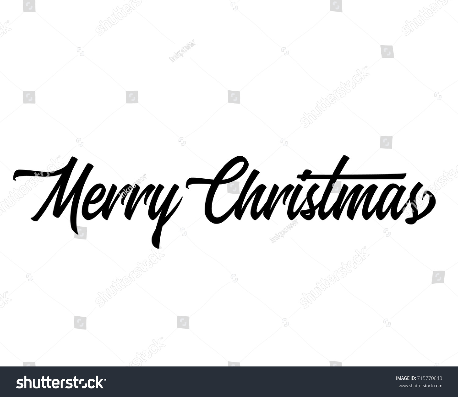 Single Line Word Art : Christmas related script phrase word art stock vector